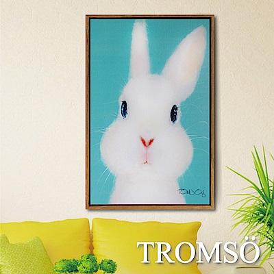 TROMSO北歐風尚板畫有框畫-萌萌小兔40X60CM