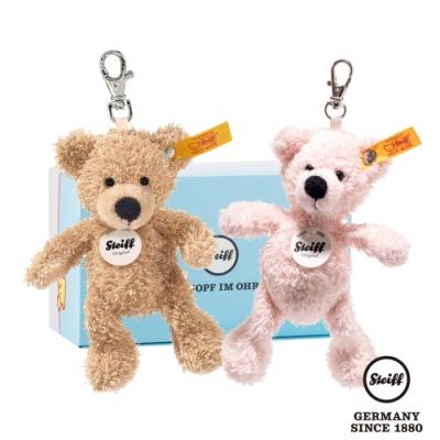 STEIFF德國金耳釦泰迪熊   Keyring Lotte & Fynn Teddy Bear (經典吊飾)