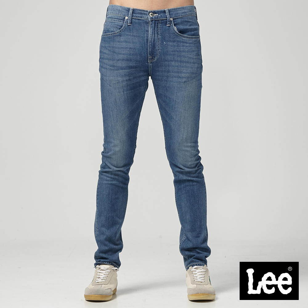 Lee 中腰標準舒適小直筒牛仔褲-中藍色洗水 @ Y!購物