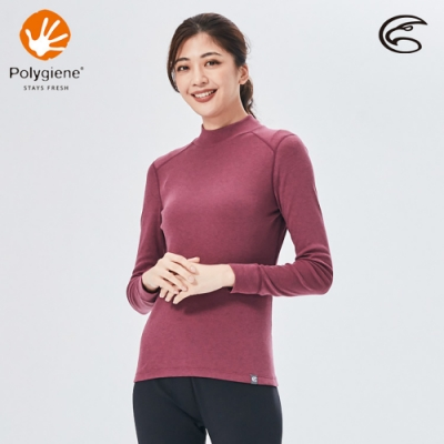 ADISI 女小高領抑菌消臭抗靜電保暖衣AU2021005 / 灰紫紅