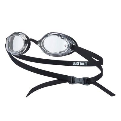 NIKE SWIM 成人專業型泳鏡-蛙鏡 游泳 戲水 海邊 沙灘 NESSA179-006 黑白