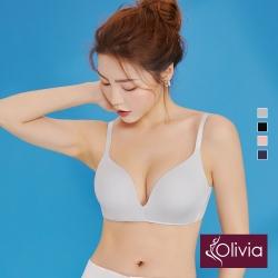 Olivia 無鋼圈3D無痕輕內衣-灰色