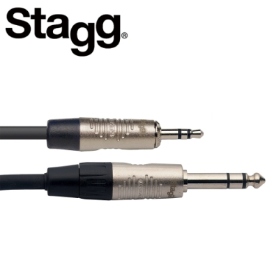 STAGG NAC2MPSPSR 3.5mm 對 6.3mm 立體聲公頭 2M音源線