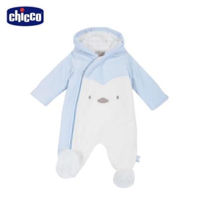 chicco-快樂企鵝-造型連帽毛絨裡兔裝