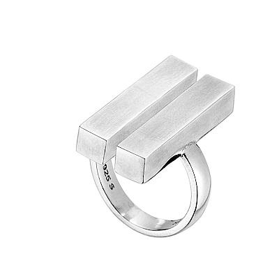 GEORG JENSEN-ARIA雙槓純銀戒指 #593A