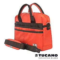 TUCANO Shine 13吋多功能手提肩背二用電腦包-橘