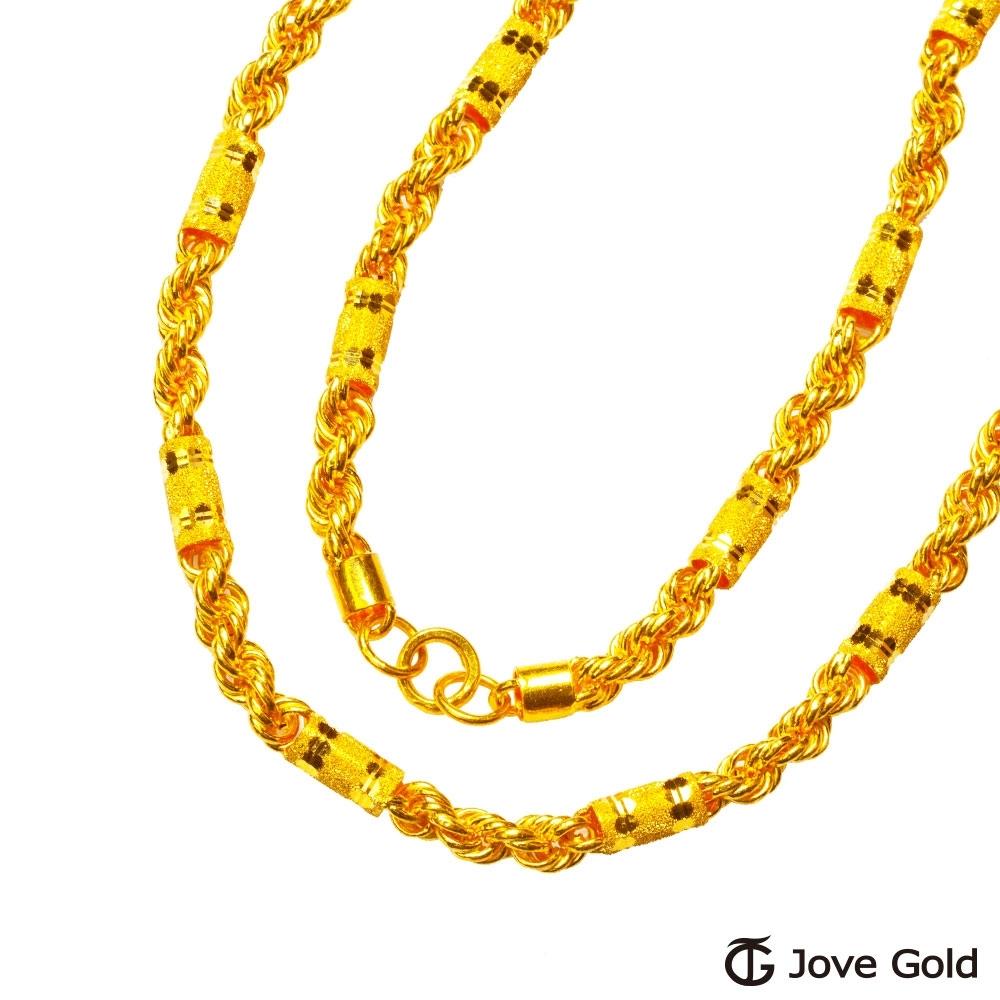 (無卡分期24期)Jove Gold 漾金飾 富貴福人黃金男項鍊(約20.20錢)