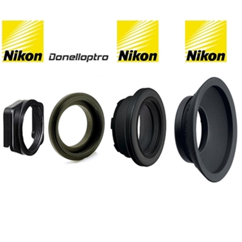 原廠NIKON DK-22方轉圓眼罩轉接器+Donell DK-2217轉接環+原廠NIKON DK-17M眼罩放大器+原廠NIKONDK-19橡膠眼罩(共四件即一組)
