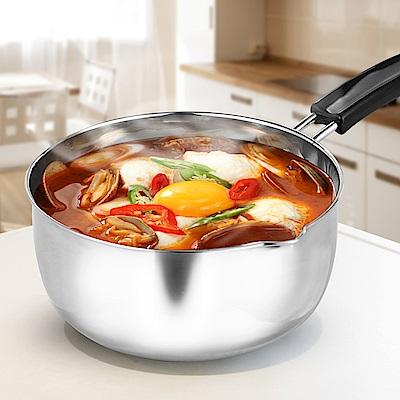 HIKARI日光生活-H1256-304不鏽鋼單把湯鍋20cm