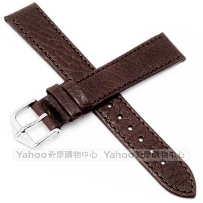 海奕施 HIRSCH Denver L小牛皮手錶帶--深棕