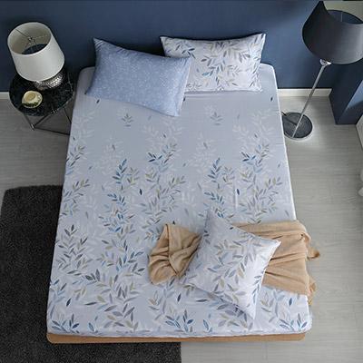 LASOL睡眠屋-100%奧地利天絲 加大床包枕套三件組230織 時雨紛紛