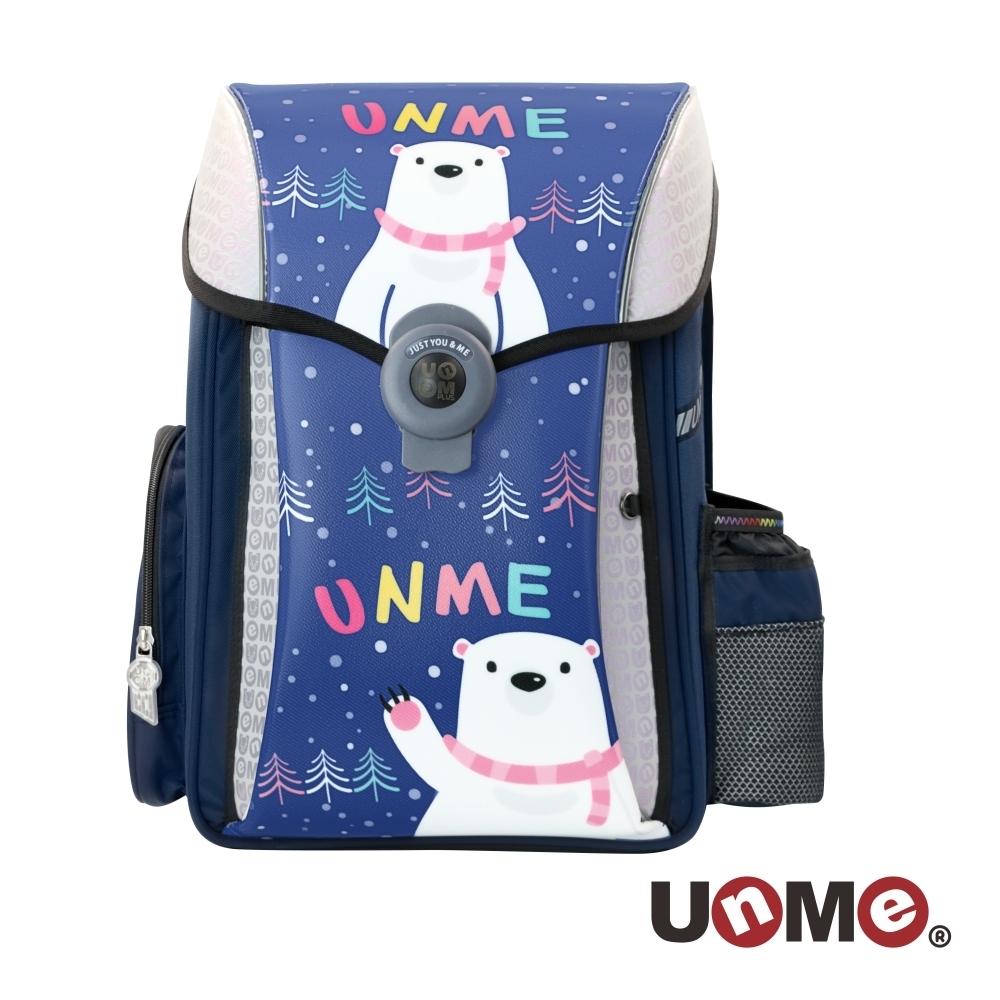 【UnMe】夢想家U型護脊減壓磁扣書包-萌趣北極熊