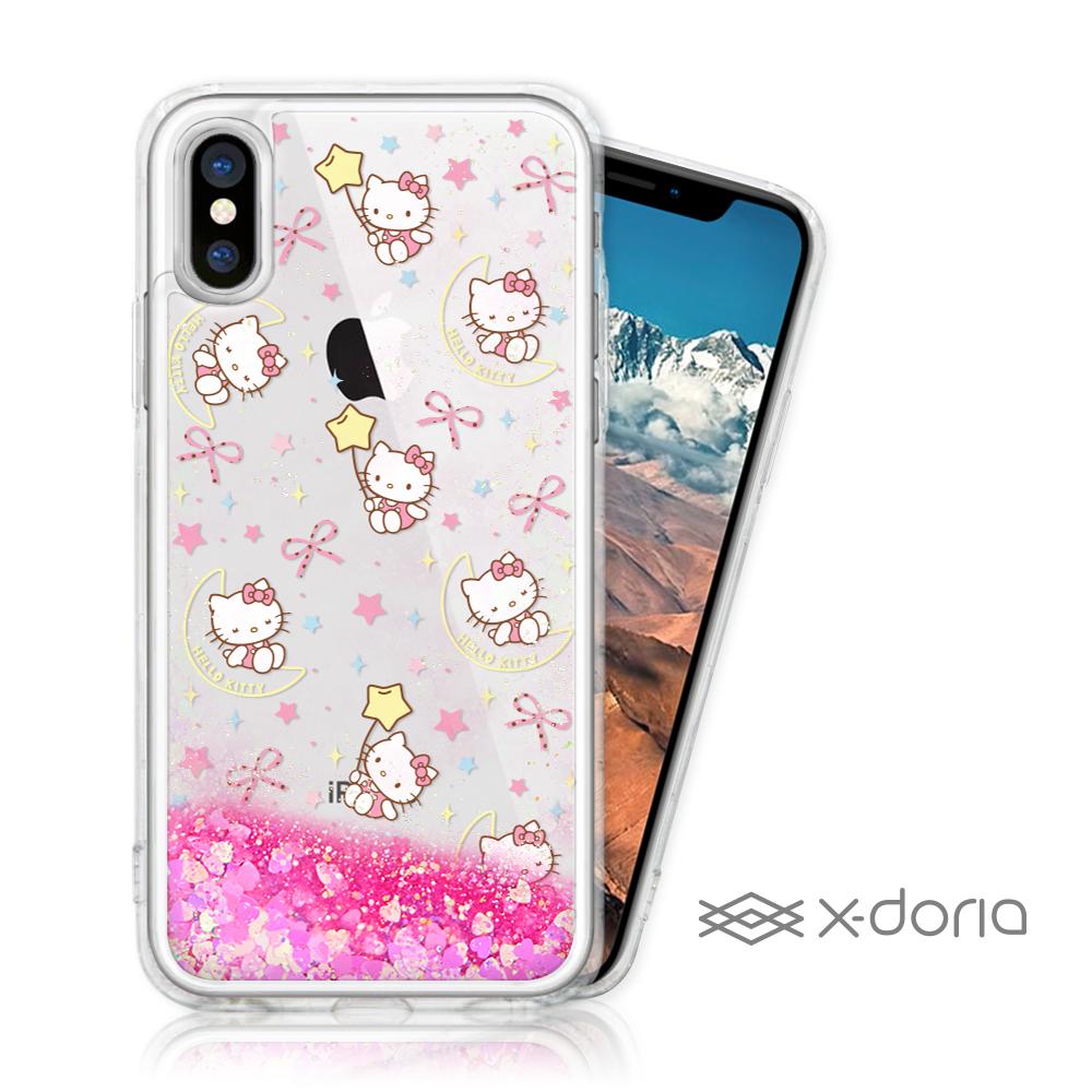 Hello Kitty iPhone X/Xs 亮片流沙手機軟殼 - 月光 @ Y!購物