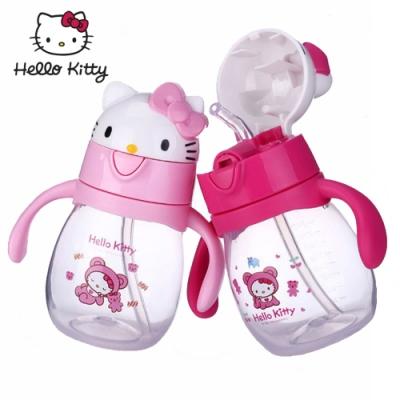【優貝選】HELLO KITTY 雙柄式兒童學習杯(270ML)