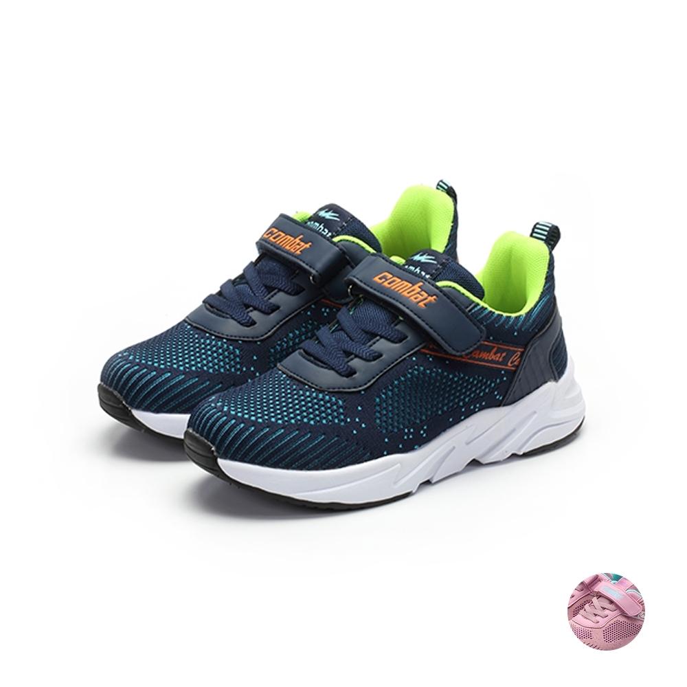 COMBAT艾樂跑童鞋-飛織運動鞋-藍/粉(TD6298)