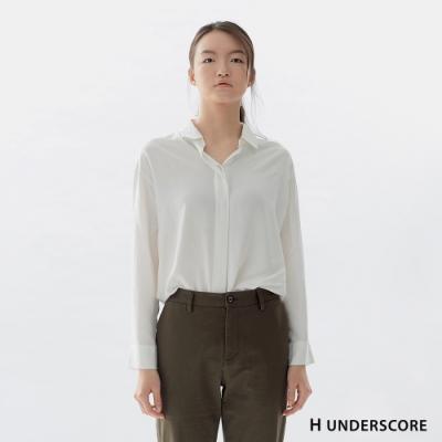Hang Ten-女裝-簡約嫘縈襯衫-白