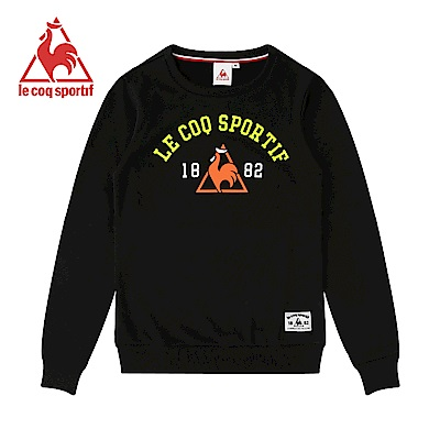 le coq sportif 法國公雞牌長袖圓領T恤 女-黑