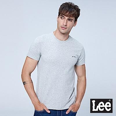 Lee 小LGOGO短袖圓領TEE-灰色