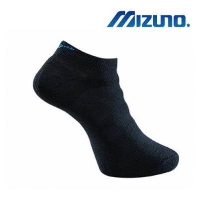 Mizuno美津濃 男運動厚底踝襪 (6雙入) 黑x藍 32TX901392Q