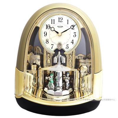RHYTHM日本麗聲 童話宮廷動感裝飾座鐘/27cm