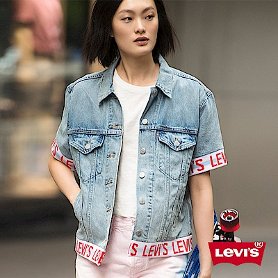 牛仔外套 女裝 LOGO滾邊 - Levis