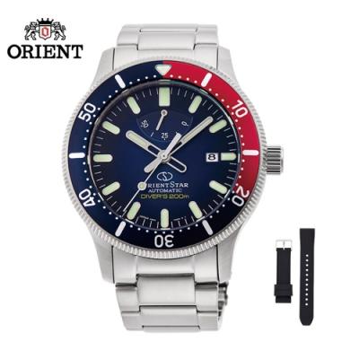 ORIENT STAR 東方之星 DIVERS 200M 系列 機械錶 膠帶款 藍色 RE-AU0306L  - 43.6mm