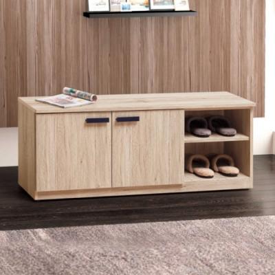 Bernice-威力橡木4尺鞋櫃/穿鞋椅-120x30x48cm