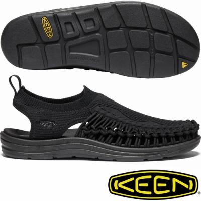 KEEN 1021484黑 Uneek Evo男戶外護趾編織涼鞋/水陸兩用鞋