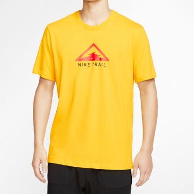 NIKE 短袖上衣 越野 慢跑 訓練 運動  男款 黃 CT3858735 AS M NK DRY TEE TRAIL