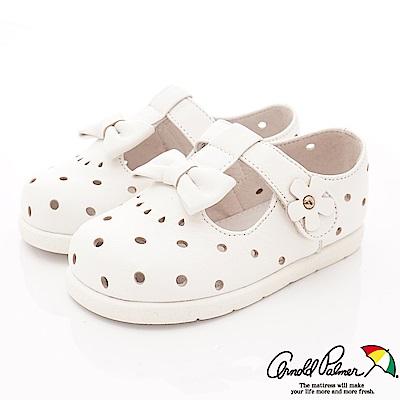 雨傘牌 小羊皮洞洞娃娃鞋款 EI75122白(小童段)