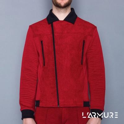 L ARMURE 男裝 立體紋路 騎士夾克