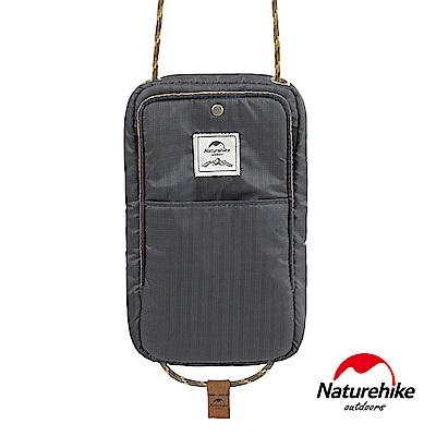 Naturehike 頸掛式防水旅行護照證件收納包 灰色-急