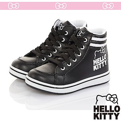 HelloKitty童鞋 極簡風輕量減壓抗菌防臭休閒高筒鞋-黑