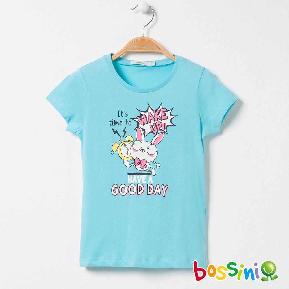 bossini女童-印花短袖T恤06水藍
