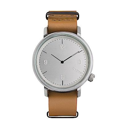 KOMONO Magnes ll 馬格斯二世系列手錶-都市棕/45mm
