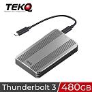 TEKQ 480G Rapide Thunderbolt 3 外接式SSD行動硬碟-太空灰