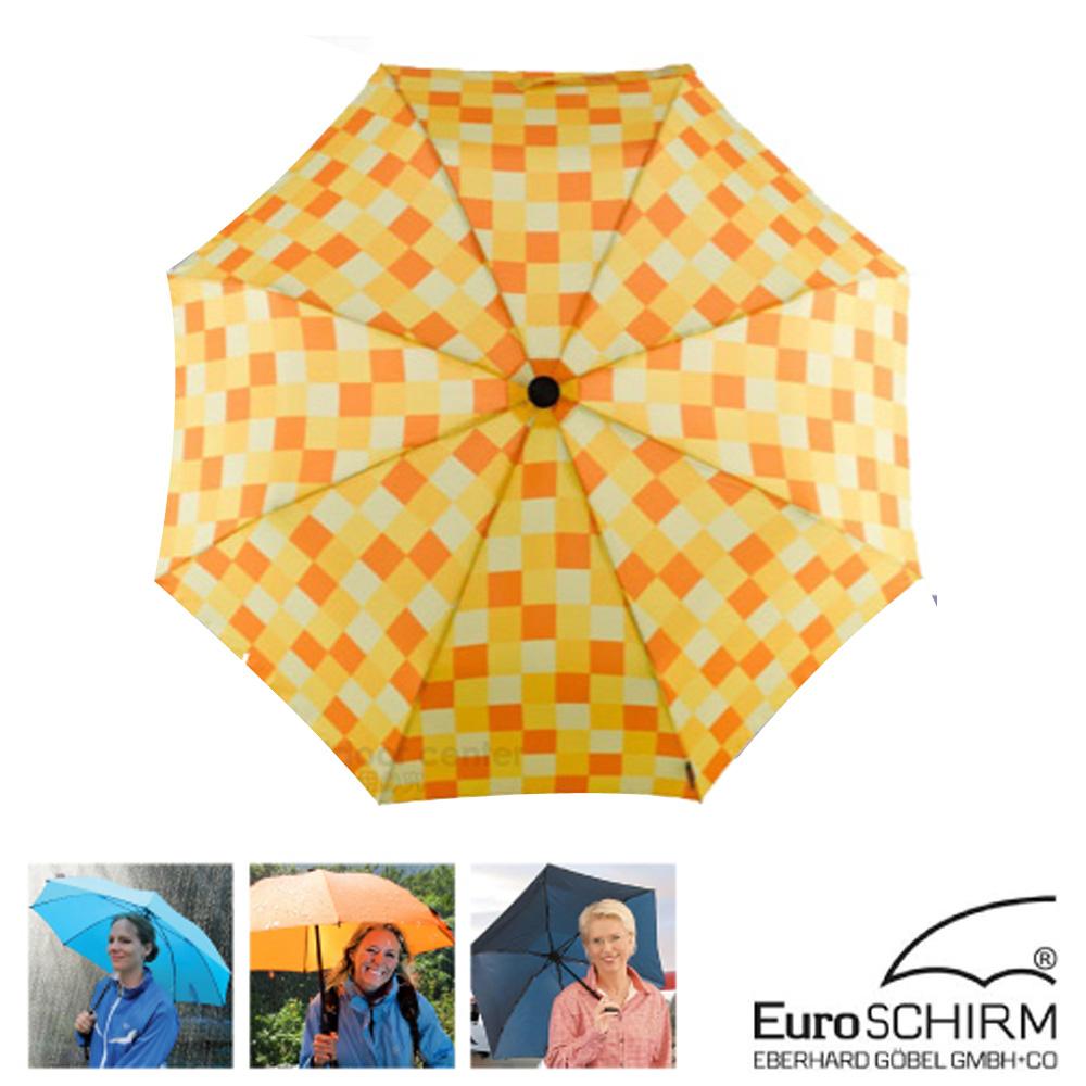 EuroSCHIRM SWING LITEFLEX 戶外專用直把傘_方格黃