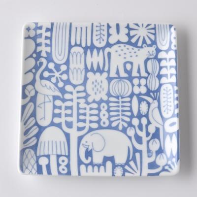 日本Natural69 波佐見燒 Utopia系列 方形淺盤 17cm 染付 日本製
