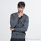 ROBERTA諾貝達 台灣製 都會型男 喀什米爾毛衣  灰