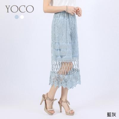 東京著衣-YOCO 浪漫女神日雜爆款鏤空蕾絲長褲-S.M.L