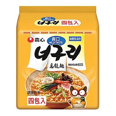 農心 爽口海鮮烏龍麵(120gx4入)