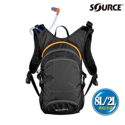 SOURCE 戶外健行水袋背包 Fuse 8L 2054129008|背包8L/水袋2L|黑色
