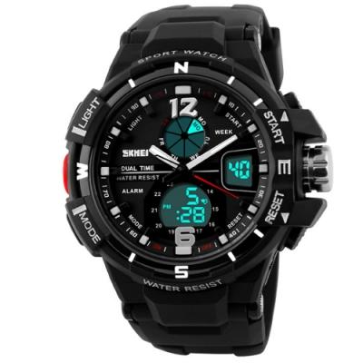 SKMEI 時刻美1148-雙機芯多功能防震防水電子錶(2色任選)