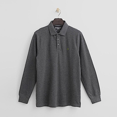 Hang Ten - 男裝 - 經典純色POLO衫-灰色