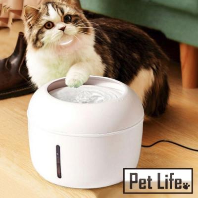 Pet Life 寵物貓狗專用流動式低噪音自動循環飲水機 2.5L/白