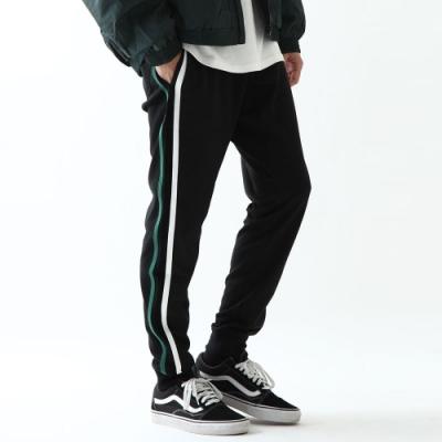 ZIP日本男裝 錐型褲長褲運動褲縮口褲素色側線條(7色)