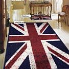 范登伯格 - 奧斯頓 進口地毯+踏墊 - 英國國旗 二入組