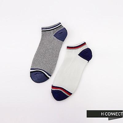 H:CONNECT 韓國品牌 -運動感配色襪組-灰