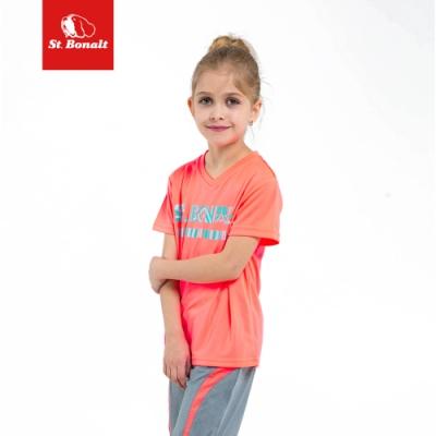 【St.Bonalt 聖伯納】男女童 運動休閒涼感速乾T恤-7177(超強吸濕 快速排汗 涼感透氣)