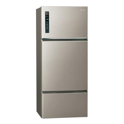 Panasonic國際牌481L三門變頻冰箱 NR-C489TV-S1 星耀金